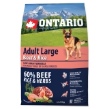 Ontario Dog Adult Large Beef & Rice - 2,25