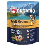 Ontario Dog Adult Medium Fish & Rice - 0,75