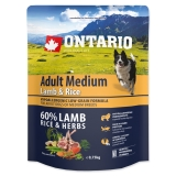 Ontario Dog Adult Medium Lamb & Rice - 0,75