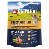 Ontario Dog Puppy Medium LAmb & Rice - 0,75