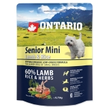 Ontario Dog Senior Mini Lamb & Rice - 0,75